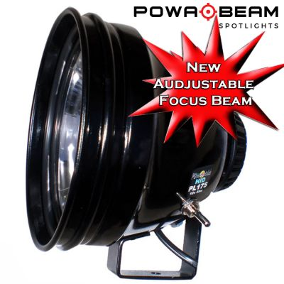 Powa Beam PL175 HID Spotlight with Bracket - Adjustable Focus Beam